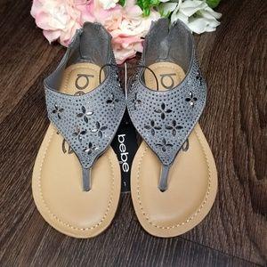 BEBE Girls Embellished Thong Sandal